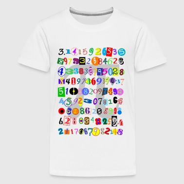The Many Digits of Pi - Kids' Premium T-Shirt