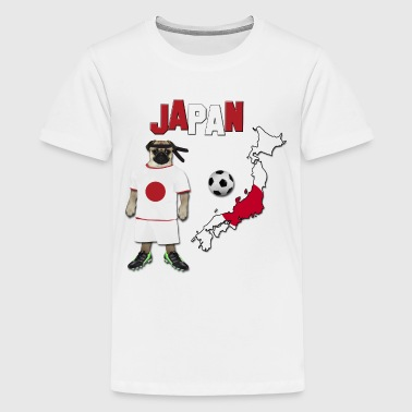 Japan Football World Cup Pug - Kids' Premium T-Shirt