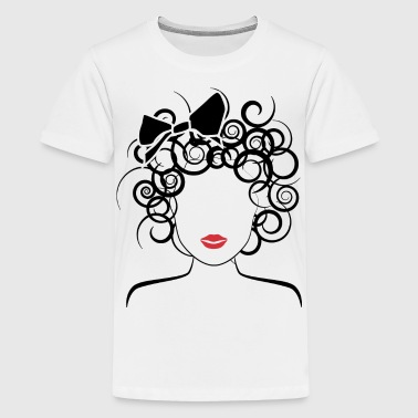 Global Couture Global Couture logo_curly girl Kids' Shirts - Kids' Premium T-Shirt
