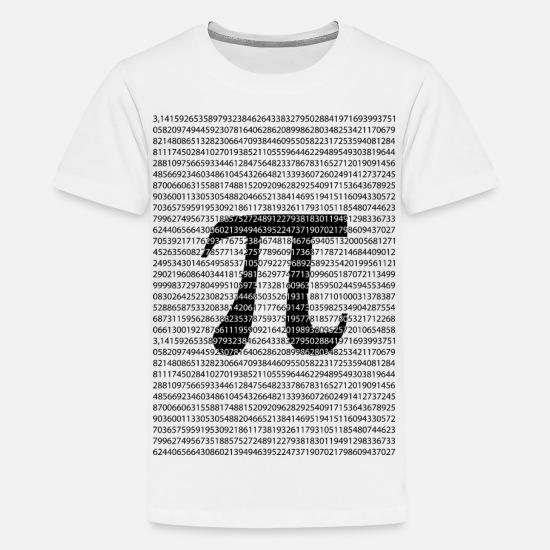 c0a52e2d Kids' Premium T-ShirtOriginal black number pi day mathematical symbol