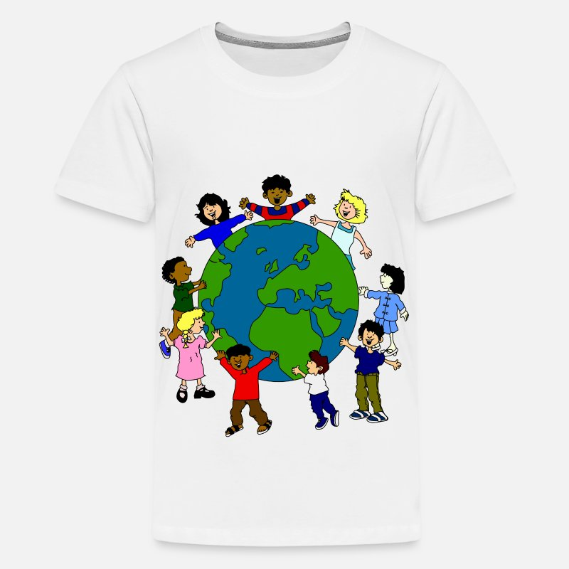 Family T-Shirts - children around the world - Kids' Premium T-Shirt white