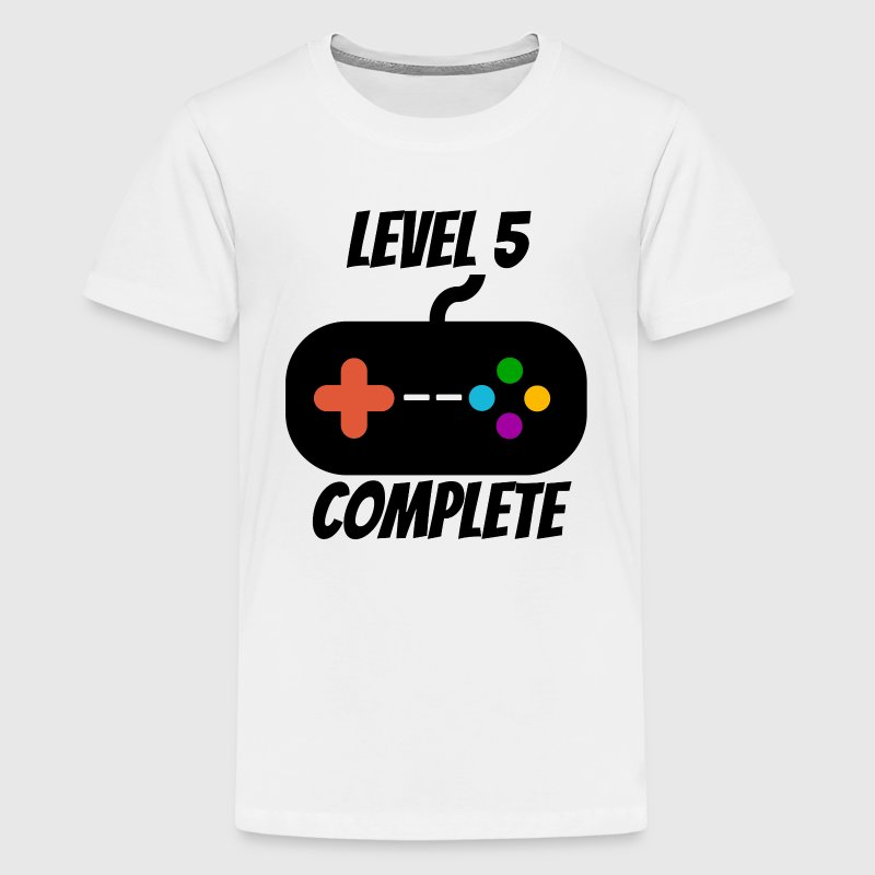 Level 5 Complete 5th Birthday - Kids' Premium T-Shirt