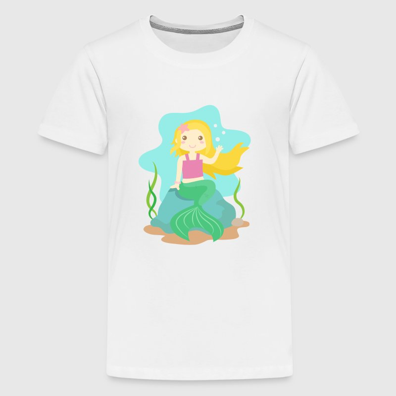 Cute little mermaid with blond hair from the ocean by for Cute shirts for 5 dollars