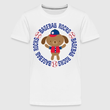 Baseball Rocks Kids Cute - Kids' Premium T-Shirt