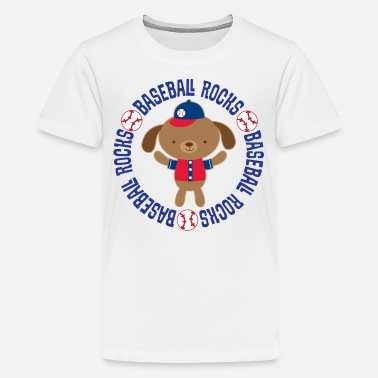 Kids Rock Baseball Rocks Kids Cute - Kids' Premium T-Shirt