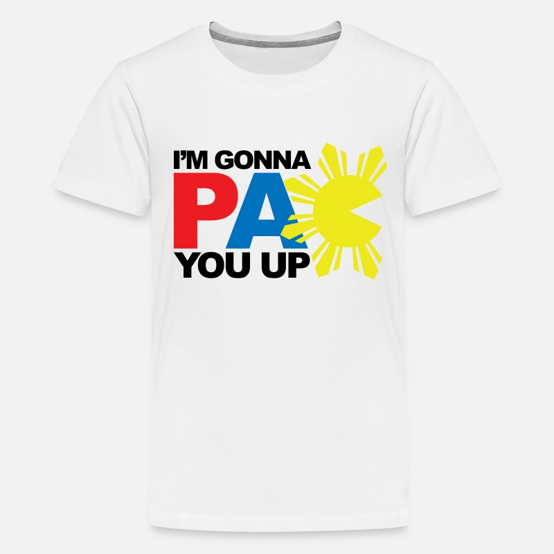 Filipino T-Shirts - PAC You Up Kids Tee Shirt by AiReal Apparel  - Kids' Premium T-Shirt white