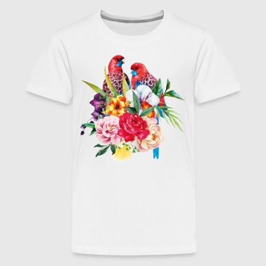 Luminous Sweet Tropical Toucan Watercolor Print - Kids' Premium T-Shirt