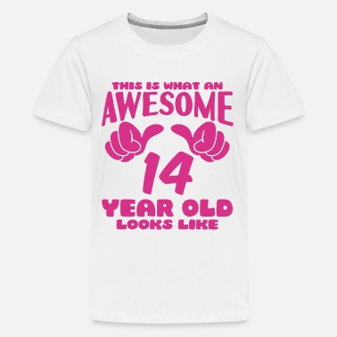 14th Birthday This is what an Awesome 14 year old looks like - Kids' Premium T-Shirt
