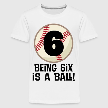 6th Birthday Baseball Party - Kids' Premium T-Shirt