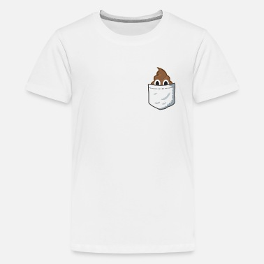 Poop Emoji Pocket Poop - Kids' Premium T-Shirt