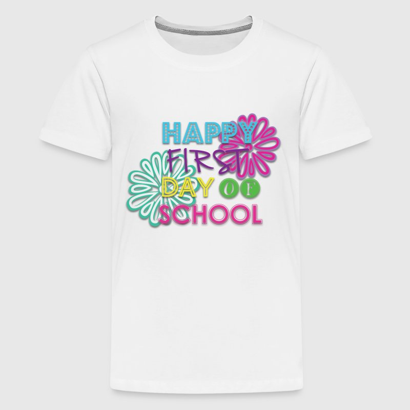 Happy First Day of School (Girl) - Kids' Premium T-Shirt