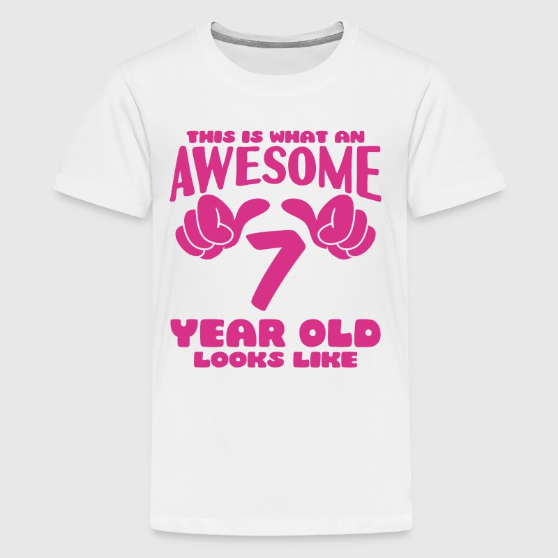 This is what an Awesome 7 year old looks like - Kids' Premium T-Shirt