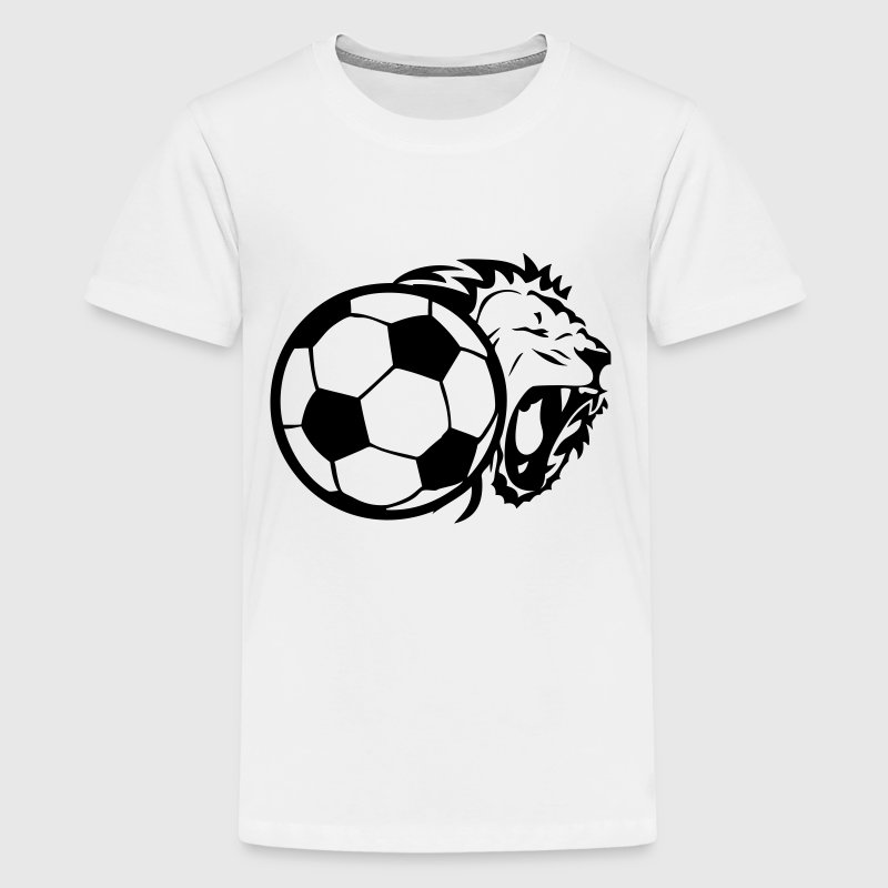 lion soccer ball - Kids' Premium T-Shirt
