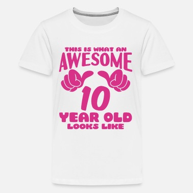 10th Birthday This is what an Awesome 10 year old looks like - Kids' Premium T-Shirt