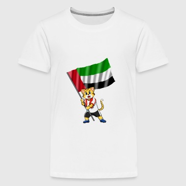 United Arab Emirates fan cat - Kids' Premium T-Shirt