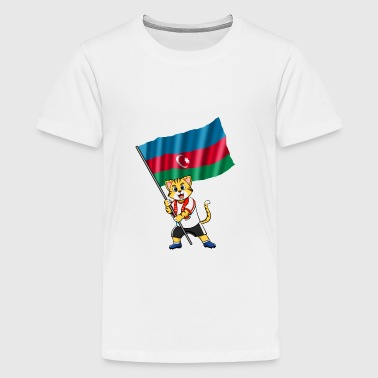 Azerbaijan fan cat - Kids' Premium T-Shirt