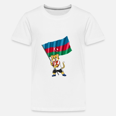 Azerbaijan Azerbaijan fan cat - Kids' Premium T-Shirt