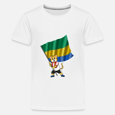 Gabon Gabon fan cat - Kids' Premium T-Shirt