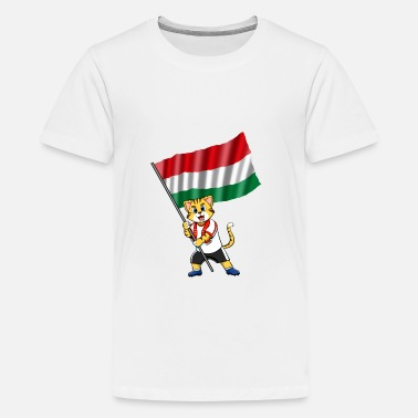 Hungary Hungary fan cat - Kids' Premium T-Shirt