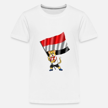 Yemen Yemen fan cat - Kids' Premium T-Shirt