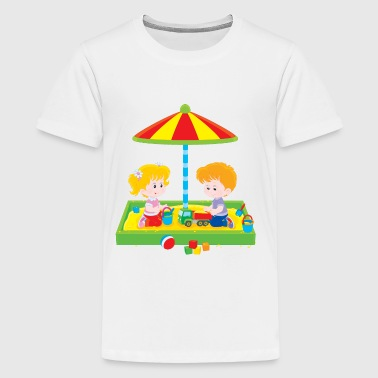 Children in the sandbox - Kids' Premium T-Shirt