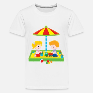 Sandbox Children in the sandbox - Kids' Premium T-Shirt