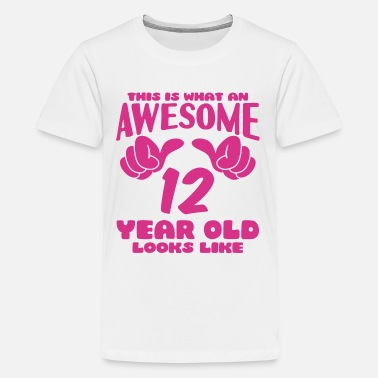 12th Birthday This is what an Awesome 12 year old looks like - Kids' Premium T-Shirt