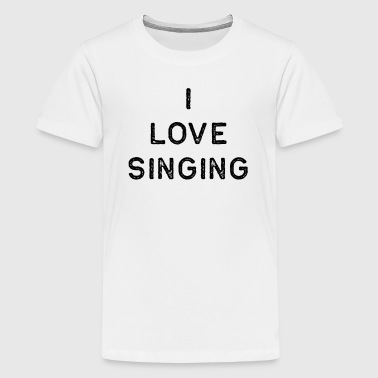 Music Shirt I Love Singing Dark Song Writer Musician Guitar Player Singer Gift - Kids' Premium T-Shirt