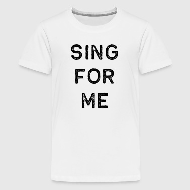 Music Shirt Sing For Me Dark Song Writer Musician Guitar Player Singer Gift - Kids' Premium T-Shirt