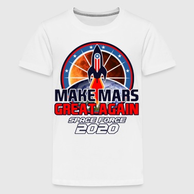 US Space Force New Military Branch Rocket to Mars Light - Kids' Premium T-Shirt