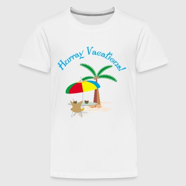 Hurray, vacation - Kids' Premium T-Shirt