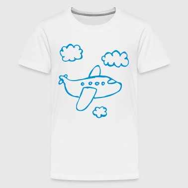 Comic Airplane - Kids' Premium T-Shirt