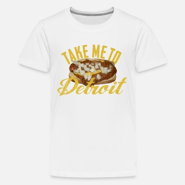 Detroit Coney Dog Take Me Detroit Coney Dog - Kids' Premium T-Shirt