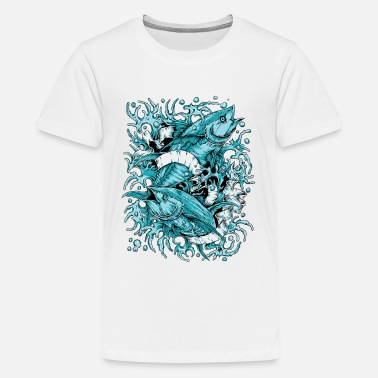Fish PISCES FISH TATTOO - Kids' Premium T-Shirt