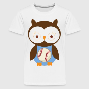 Baseball Kids Cute Owl - Kids' Premium T-Shirt