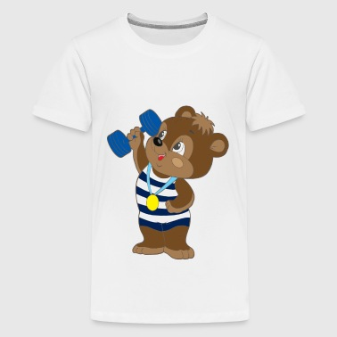 Athlete Bear - Kids' Premium T-Shirt