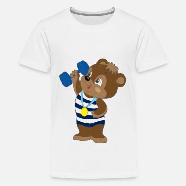 Little Buddha Teddy Bear sport - Kids' Premium T-Shirt