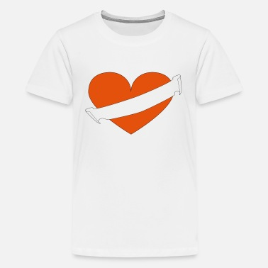 Diagonal Heart your text diagonal - Kids' Premium T-Shirt