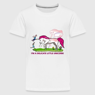 Lesbian Flowers Angry unicorn - delicate flower - Kids' Premium T-Shirt