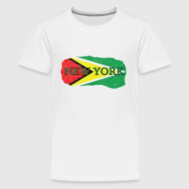 New York Guyana Flag - Kids' Premium T-Shirt