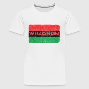 Wisconsin African Flag - Kids' Premium T-Shirt