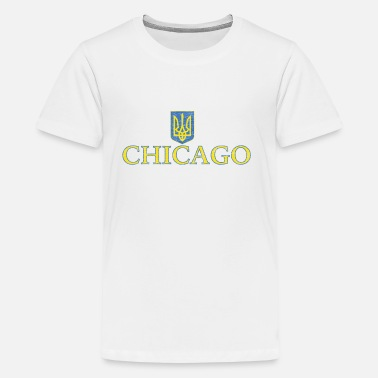 Ukrainian Flag Chicago Ukrainian Ukraine Flag - Kids' Premium T-Shirt