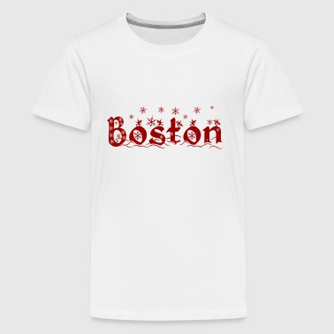 Cute Holiday Christmas Boston - Kids' Premium T-Shirt