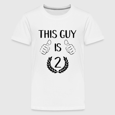 Old Guy This Guy Is Two 2 Years Toddler Birthday Gift Idea - Kids' Premium T-Shirt