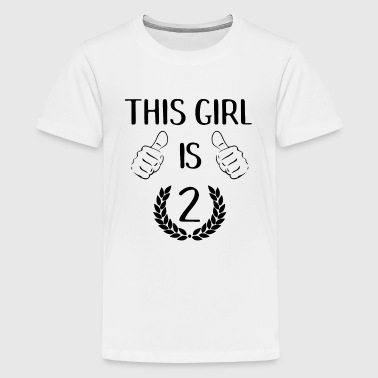 2 Year Old Birthday This Girl Is Two 2 Years Old Birthday Gift Idea - Kids' Premium T-Shirt