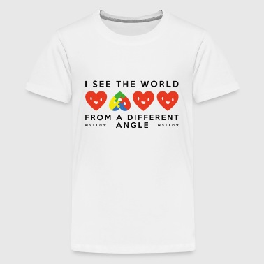 Seeingthe World From A Different Angle Autism Different Angle - Kids' Premium T-Shirt