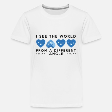 I See The World From A Different Angle Autism Different Angle - Kids' Premium T-Shirt