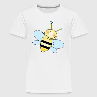 Bee Wing Bumble Bee with Blue Wings - Kids' Premium T-Shirt