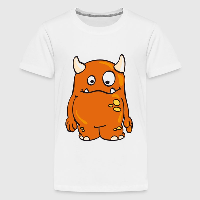Cool orange Monster - Kids' Premium T-Shirt