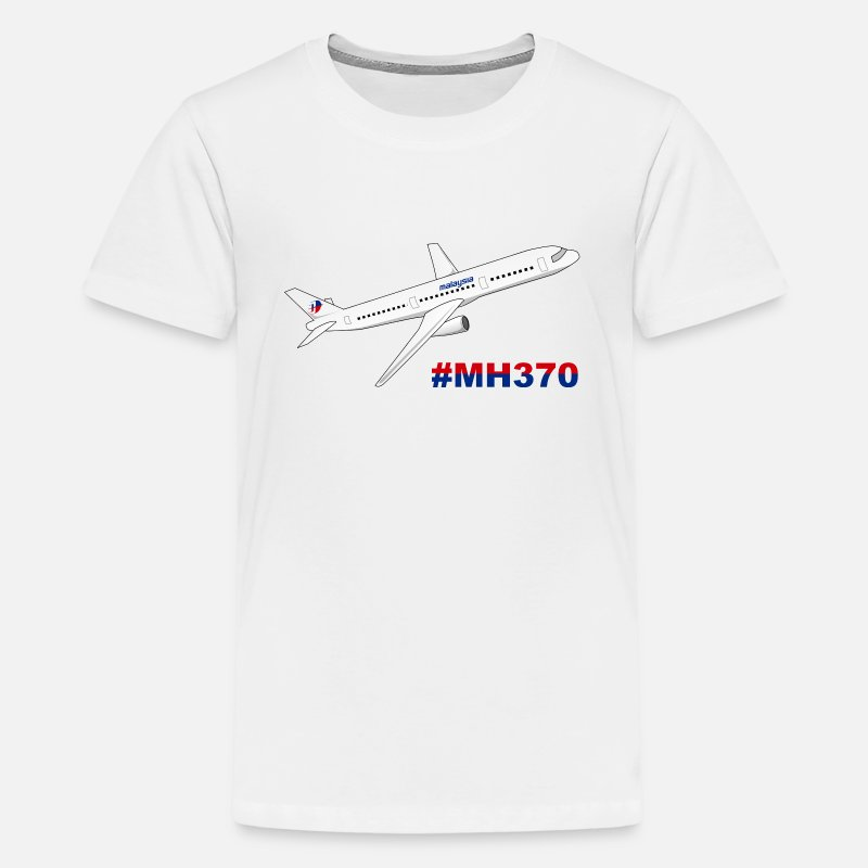 Airplane T-Shirts - Malaysia Airlines MH370 - Kids' Premium T-Shirt white